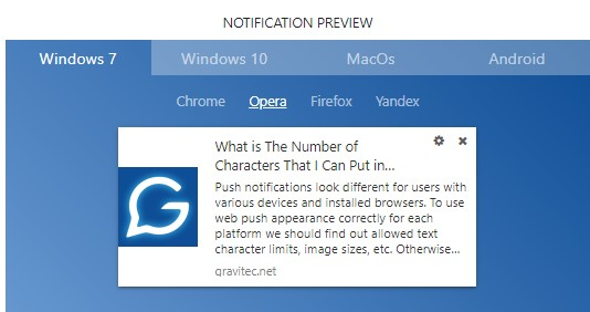 Push Notification Character Limit for iOS, Android and Web