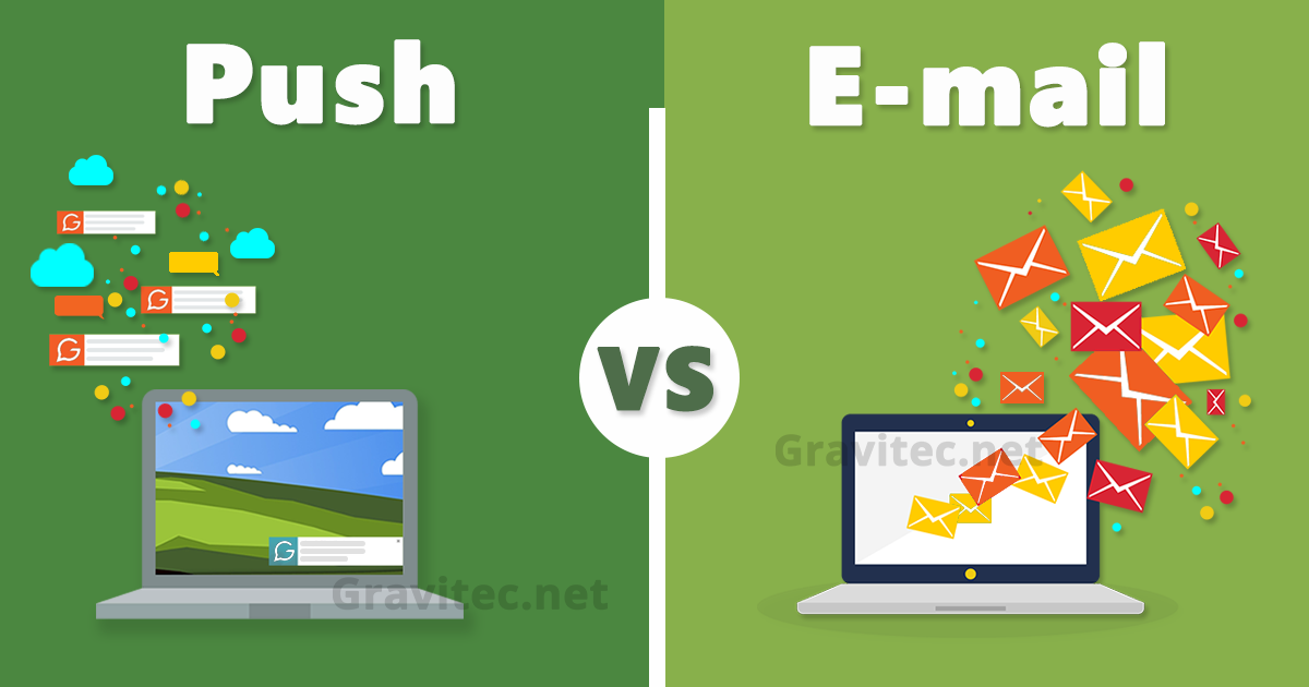 push vs email